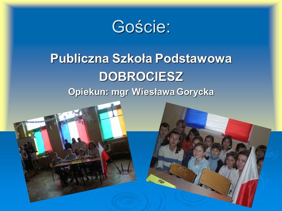 Publiczna Szkoła Podstawowa Opiekun: mgr Wiesława Gorycka