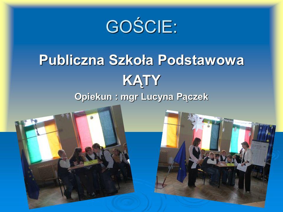 Publiczna Szkoła Podstawowa Opiekun : mgr Lucyna Pączek