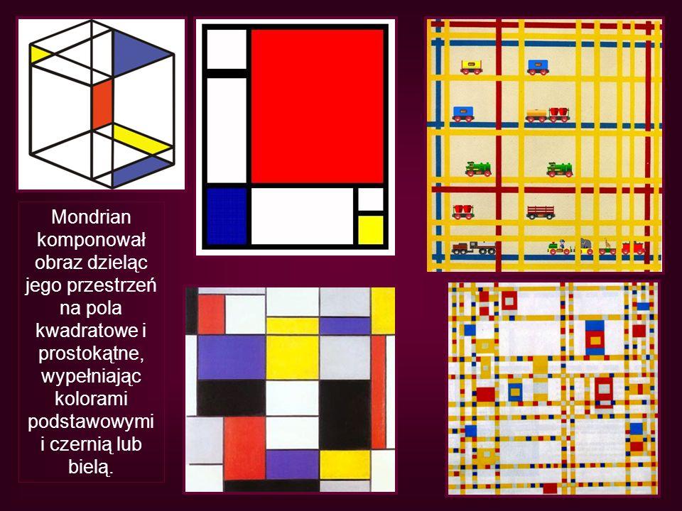 Mondrian komponował obraz dzieląc