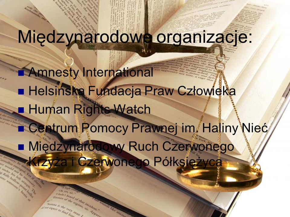 Międzynarodowe organizacje: