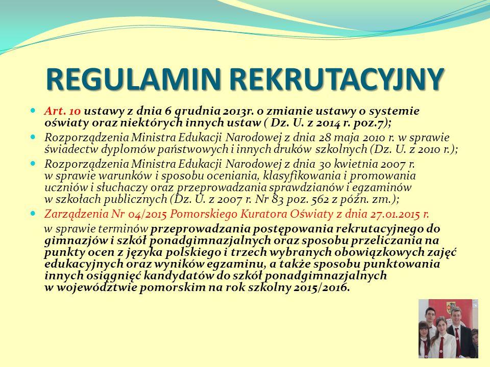 REGULAMIN REKRUTACYJNY