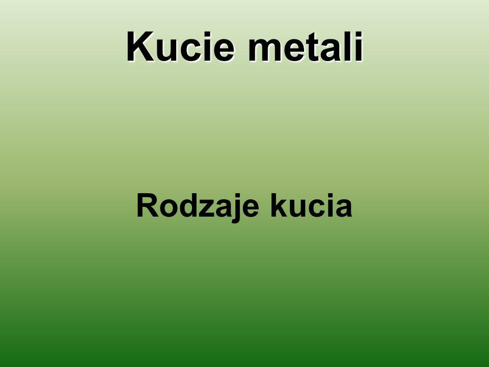 Kucie metali Rodzaje kucia