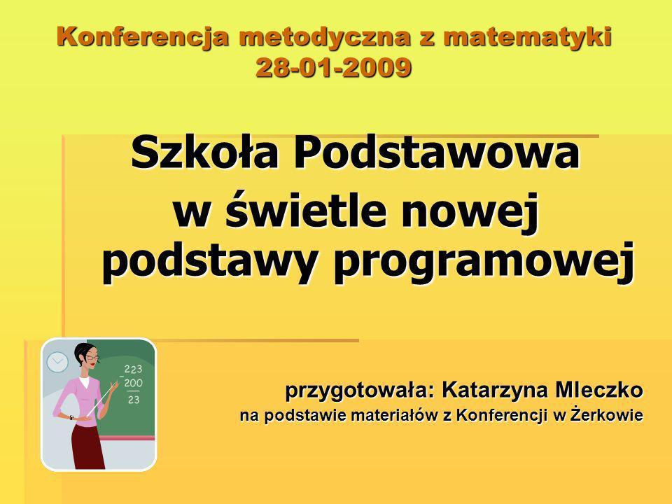 Konferencja metodyczna z matematyki 28-01-2009