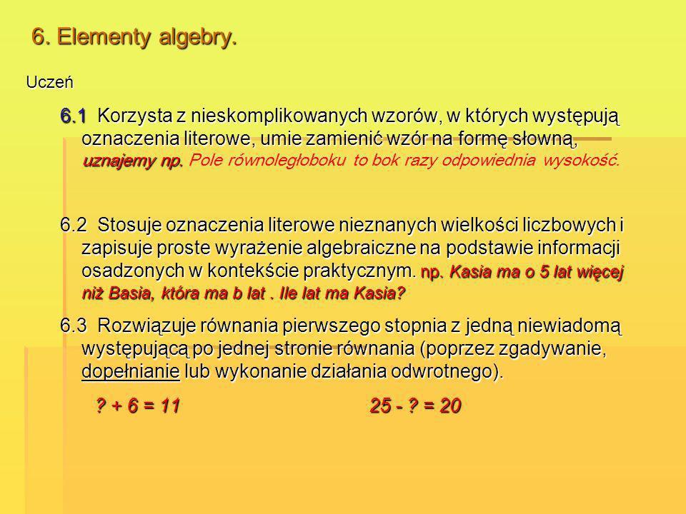 6. Elementy algebry. Uczeń.