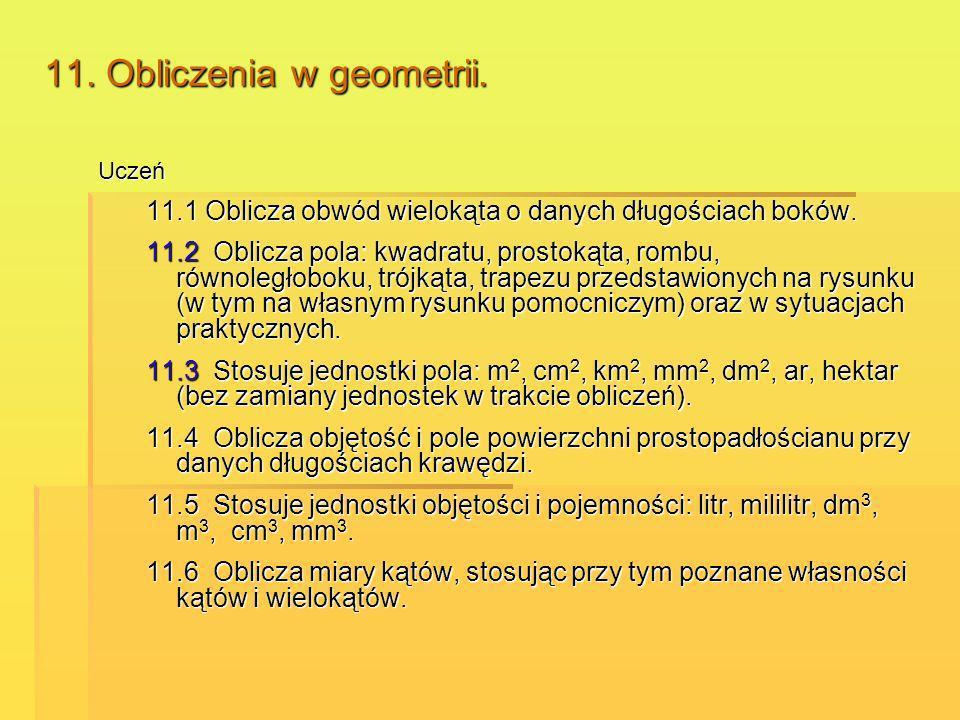11. Obliczenia w geometrii.