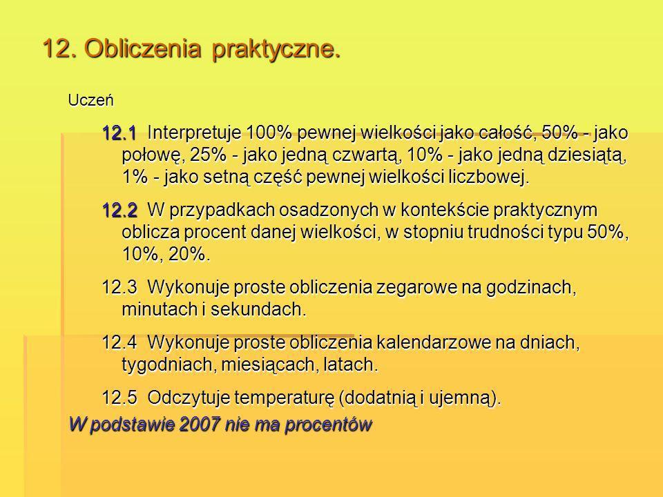 12. Obliczenia praktyczne.