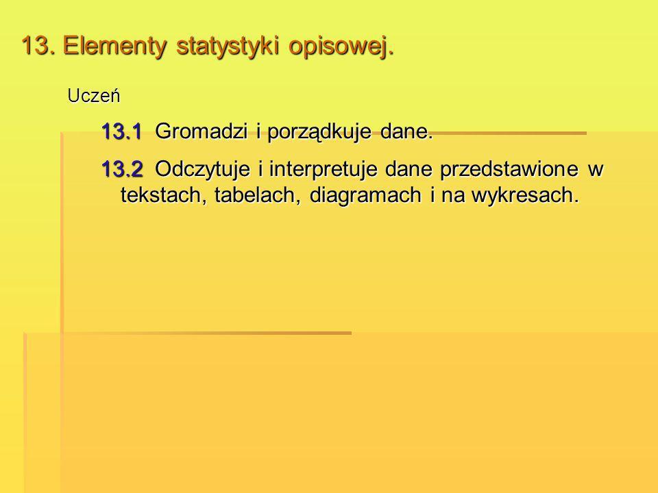 13. Elementy statystyki opisowej.