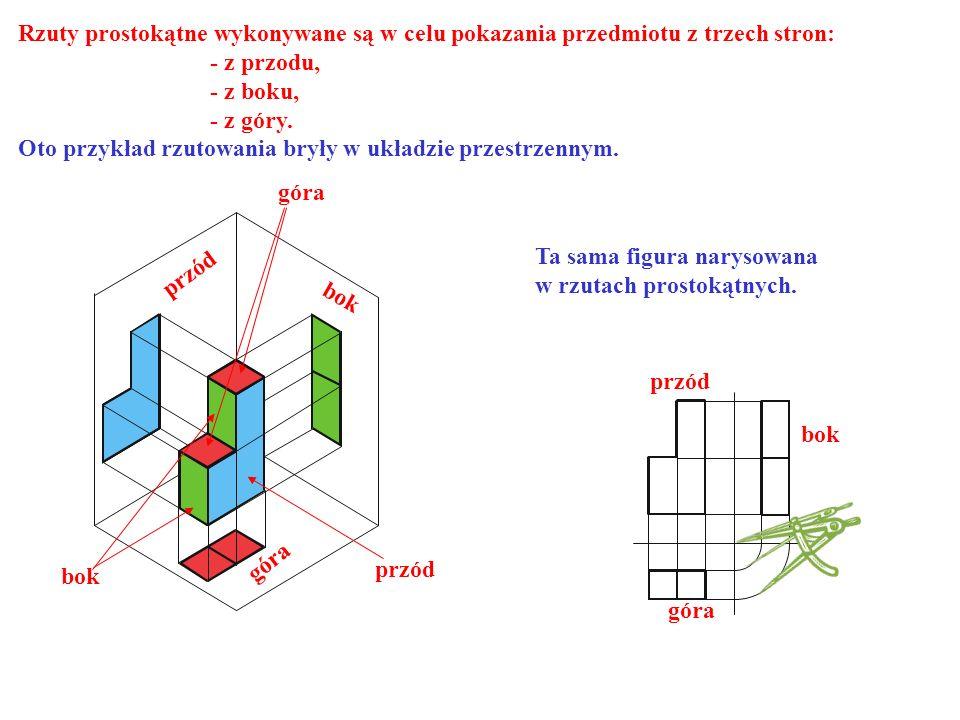 Rzuty prostokątne wykonywane są w celu pokazania przedmiotu z trzech stron: