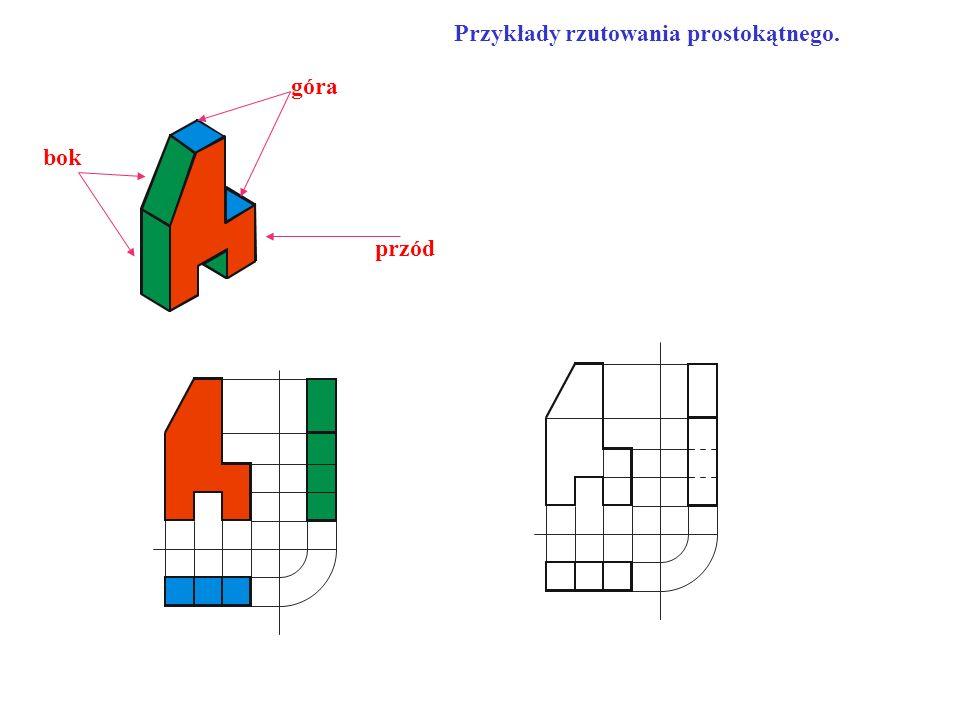Przykłady rzutowania prostokątnego.