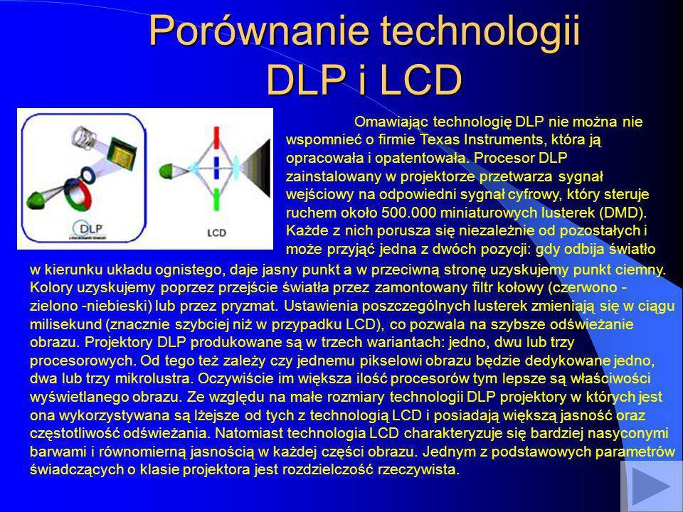 Porównanie technologii DLP i LCD