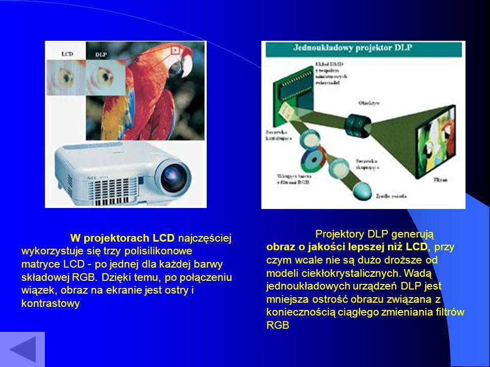 Projektory DLP generują obraz o jakości lepszej niż LCD, przy czym wcale nie są dużo droższe od modeli ciekłokrystalicznych. Wadą jednoukładowych urządzeń DLP jest mniejsza ostrość obrazu związana z koniecznością ciągłego zmieniania filtrów RGB