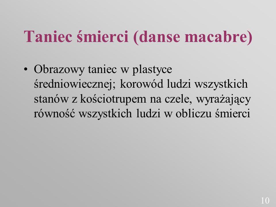 Taniec śmierci (danse macabre)