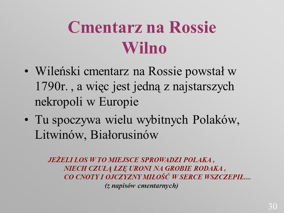 Cmentarz na Rossie Wilno
