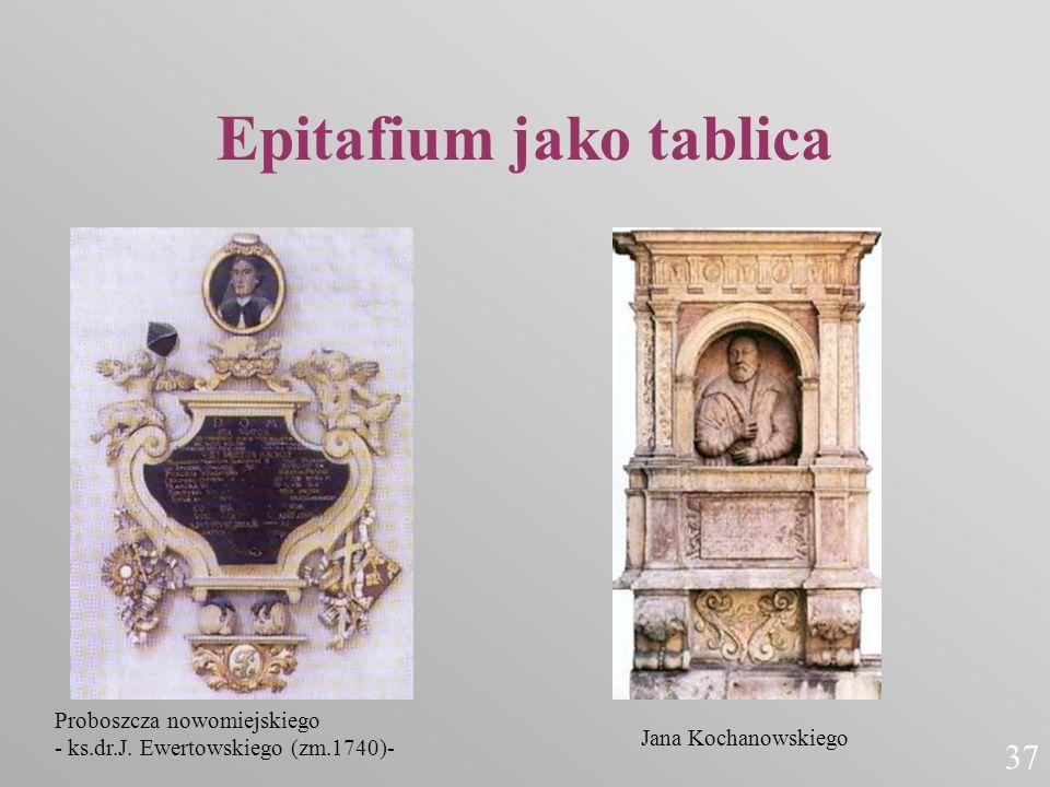 Epitafium jako tablica