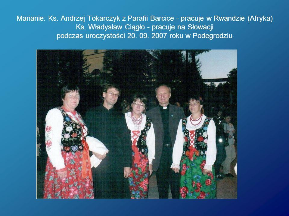 Marianie: Ks. Andrzej Tokarczyk z Parafii Barcice - pracuje w Rwandzie (Afryka) Ks.