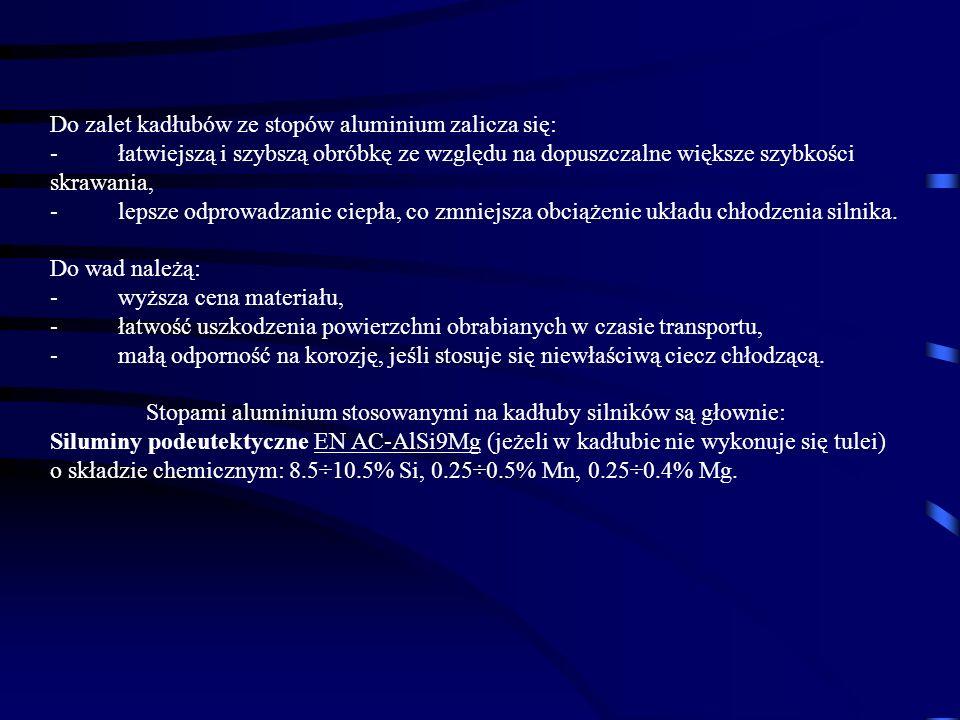 Do zalet kadłubów ze stopów aluminium zalicza się: