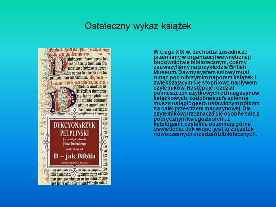Ostateczny wykaz książek