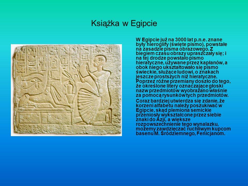 Książka w Egipcie