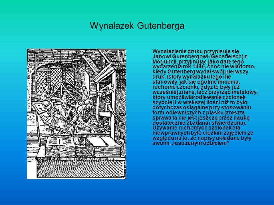 Wynalazek Gutenberga