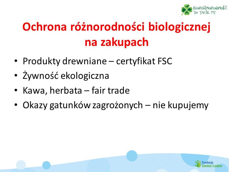 Ochrona różnorodności biologicznej na zakupach