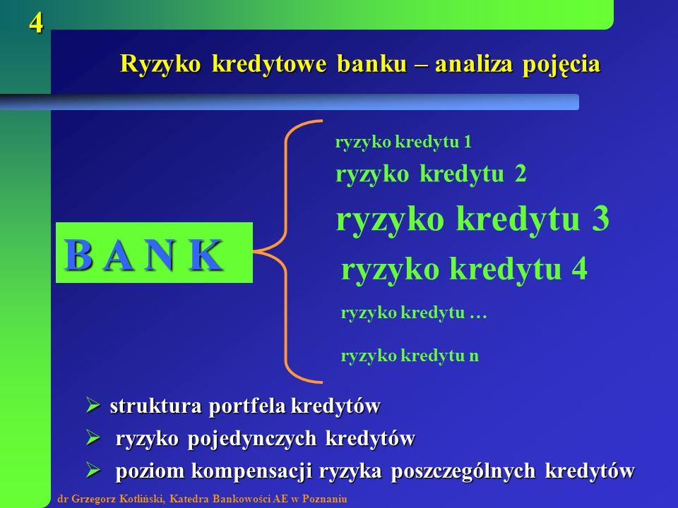 Ryzyko kredytowe banku – analiza pojęcia