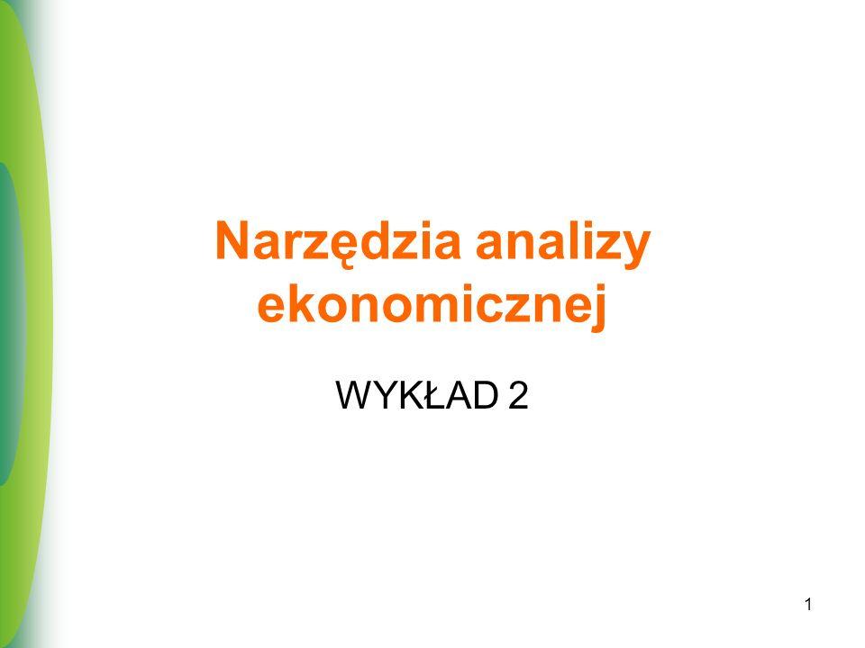 Narzędzia analizy ekonomicznej