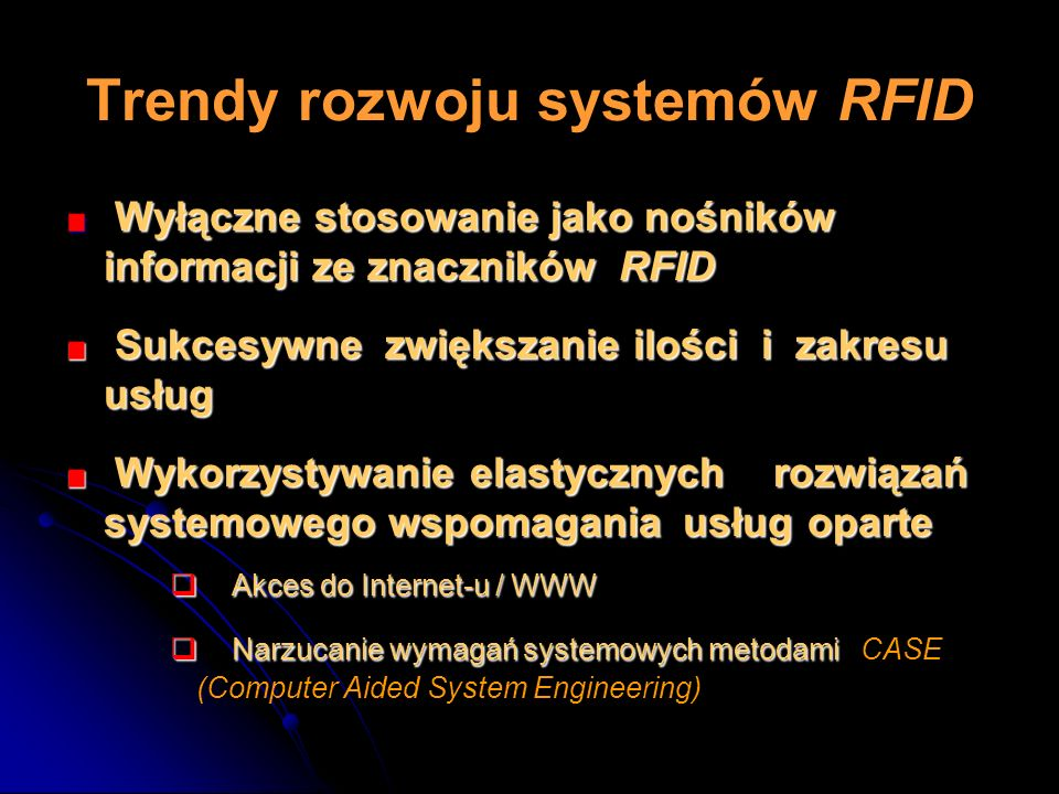 Trendy rozwoju systemów RFID