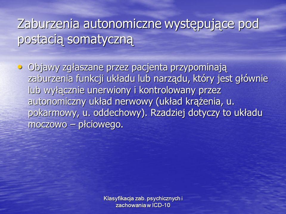 Zaburzenia autonomiczne występujące pod postacią somatyczną