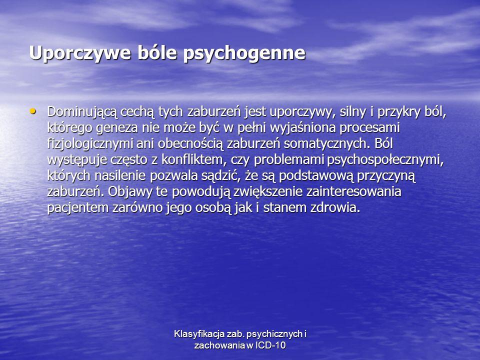 Uporczywe bóle psychogenne