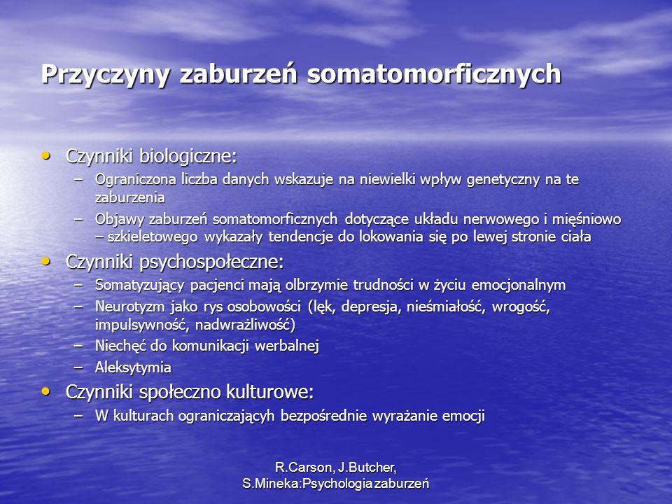 Przyczyny zaburzeń somatomorficznych