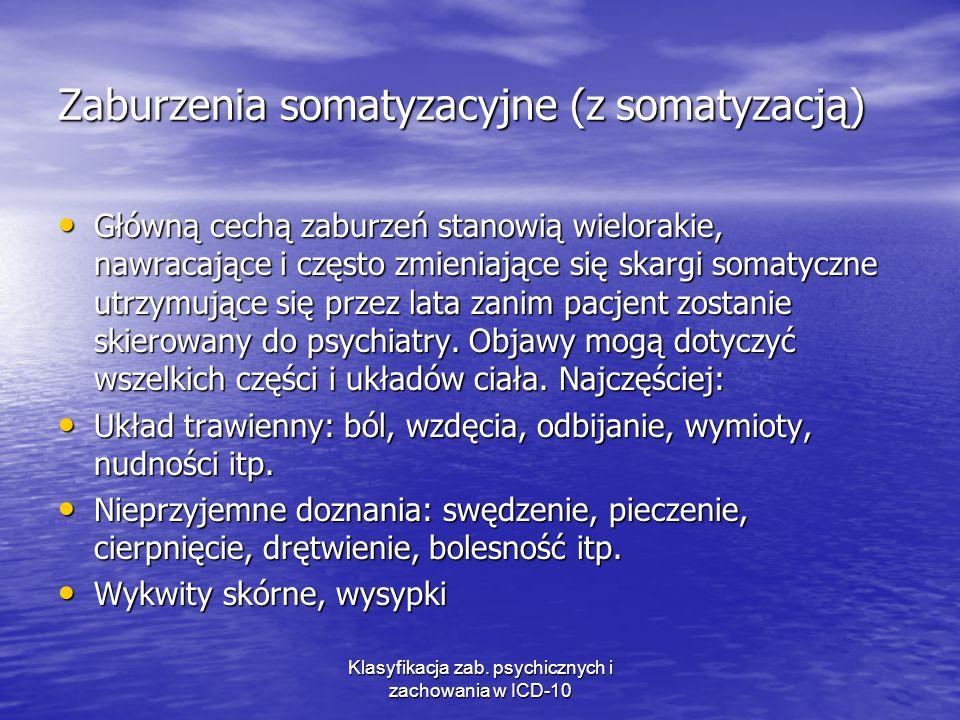 Zaburzenia somatyzacyjne (z somatyzacją)