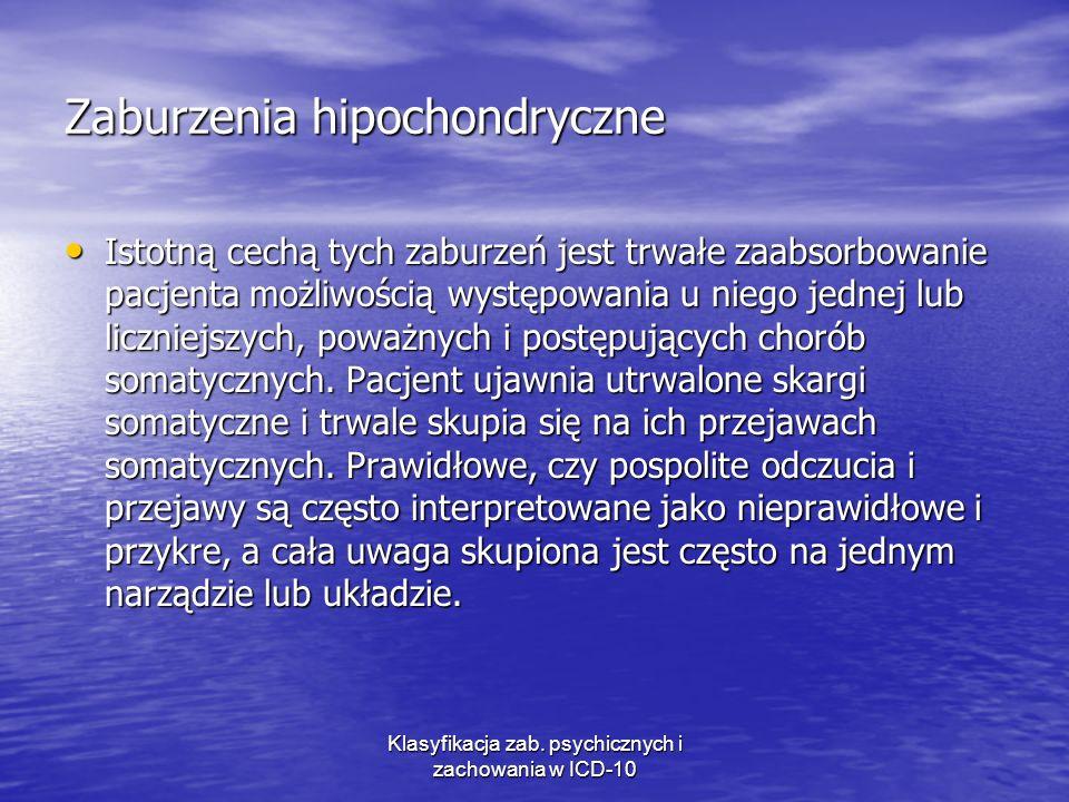 Zaburzenia hipochondryczne
