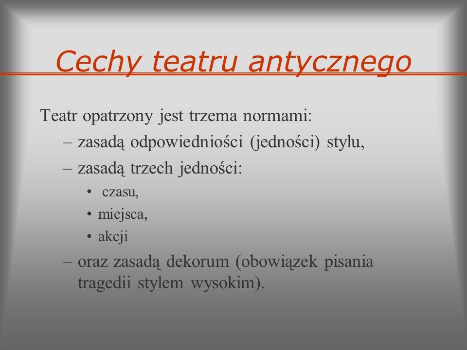 Cechy teatru antycznego