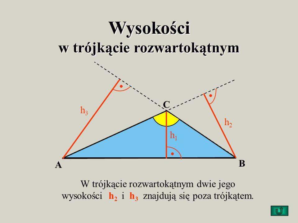 Wysokości w trójkącie rozwartokątnym