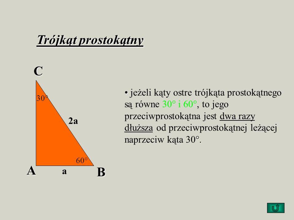 Trójkąt prostokątny C A B