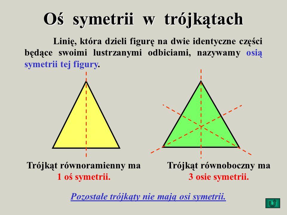 Oś symetrii w trójkątach
