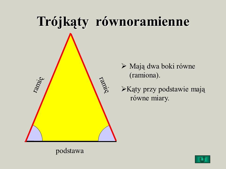 Trójkąty równoramienne