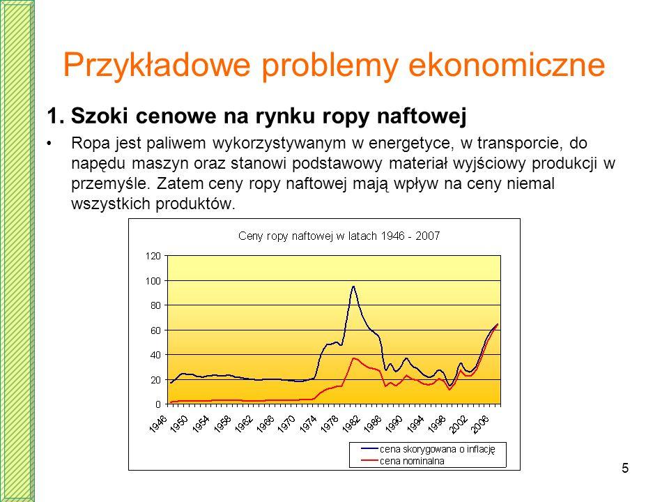 Przykładowe problemy ekonomiczne