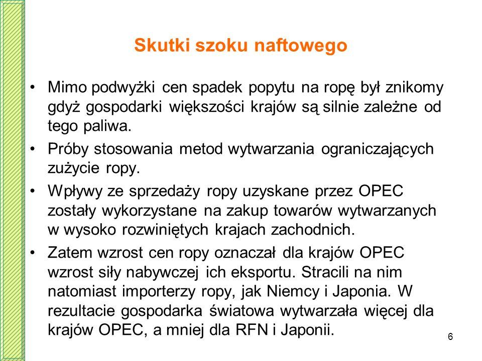 Skutki szoku naftowego