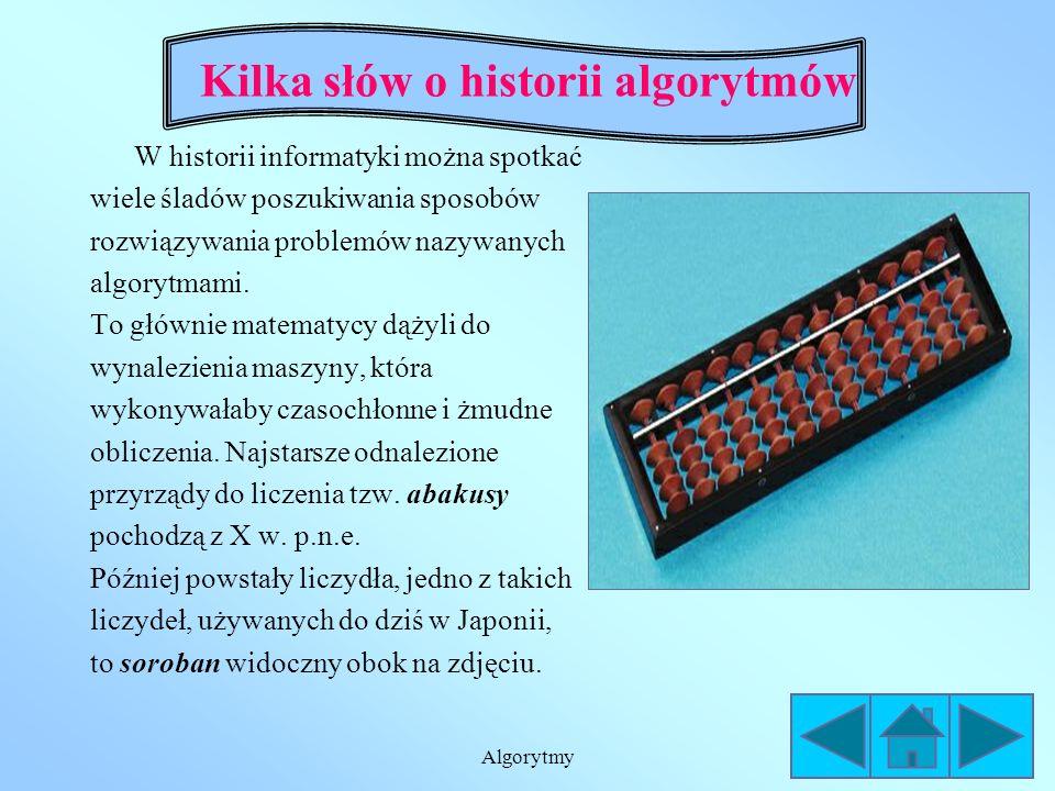 Kilka słów o historii algorytmów