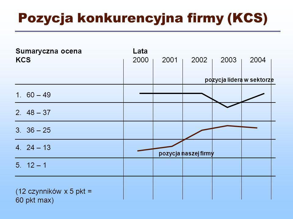 Pozycja konkurencyjna firmy (KCS)