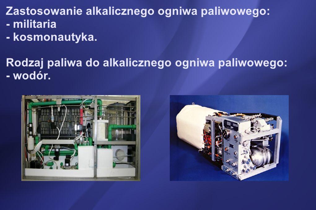 Zastosowanie alkalicznego ogniwa paliwowego: