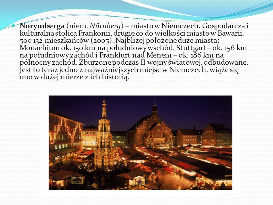 Norymberga (niem. Nürnberg) – miasto w Niemczech