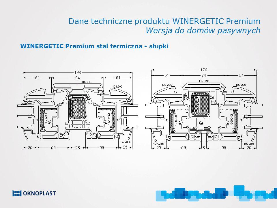 Dane techniczne produktu WINERGETIC Premium Wersja do domów pasywnych