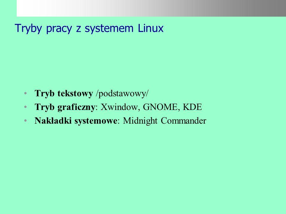 Tryby pracy z systemem Linux