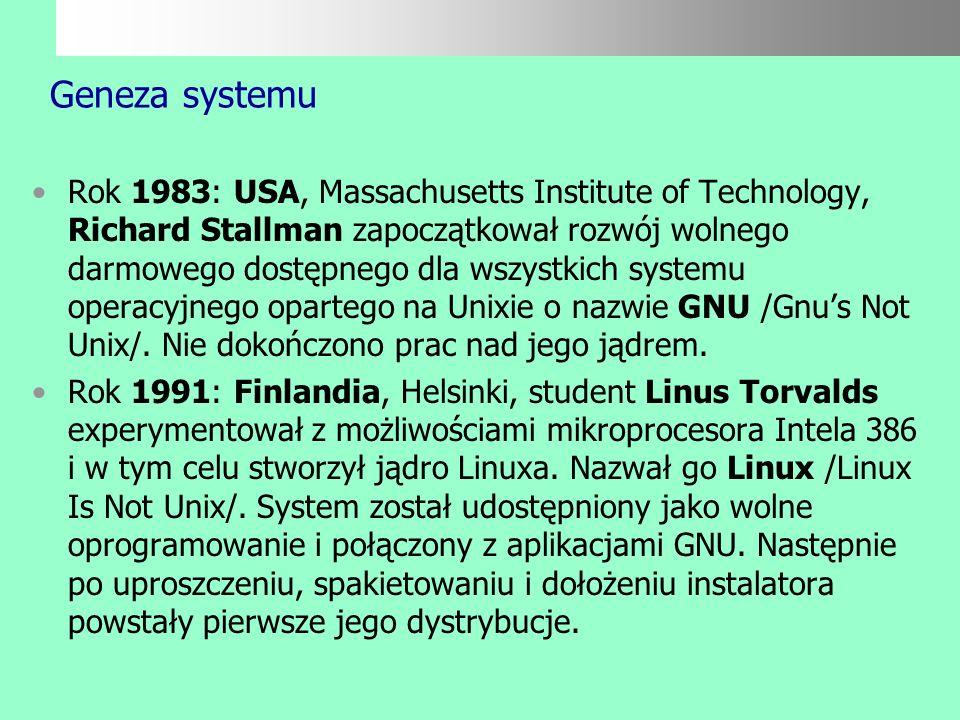 Geneza systemu