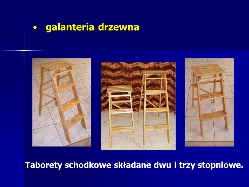 galanteria drzewna Taborety schodkowe składane dwu i trzy stopniowe.