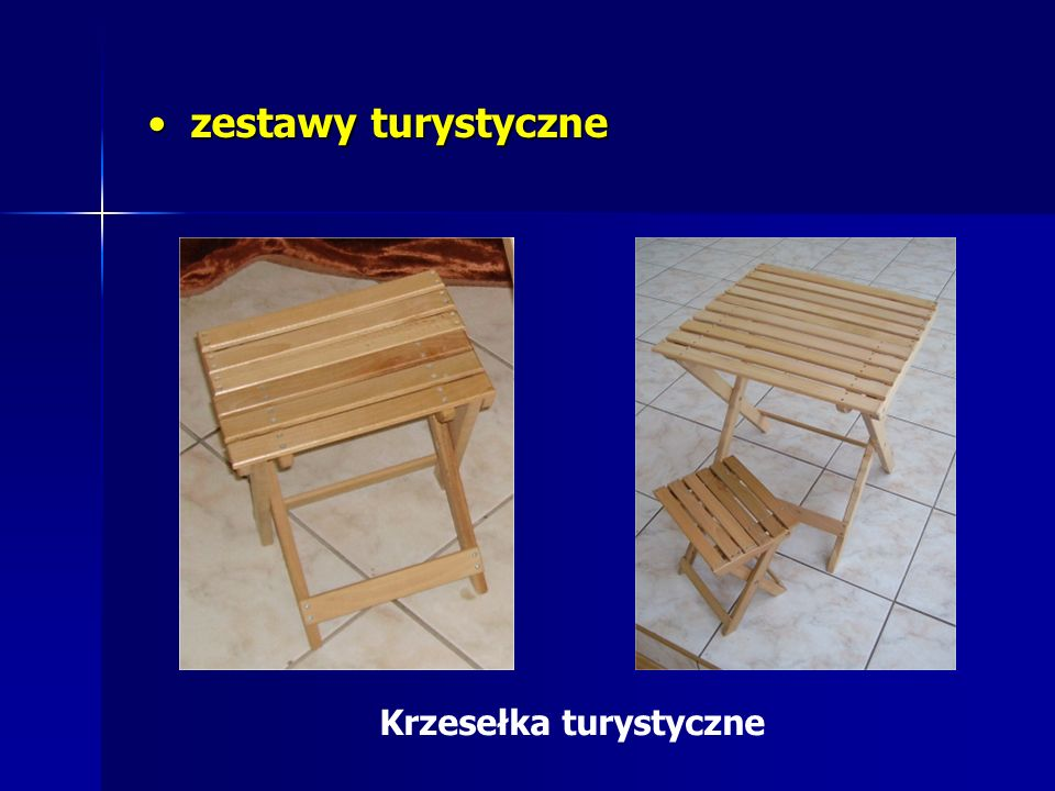 zestawy turystyczne Krzesełka turystyczne