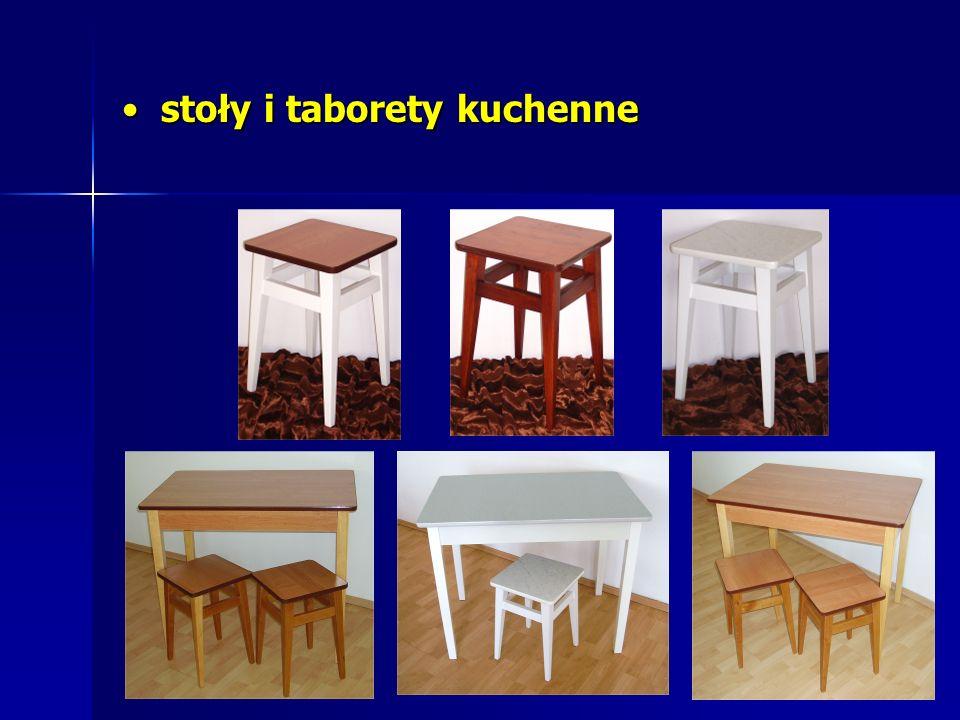 stoły i taborety kuchenne