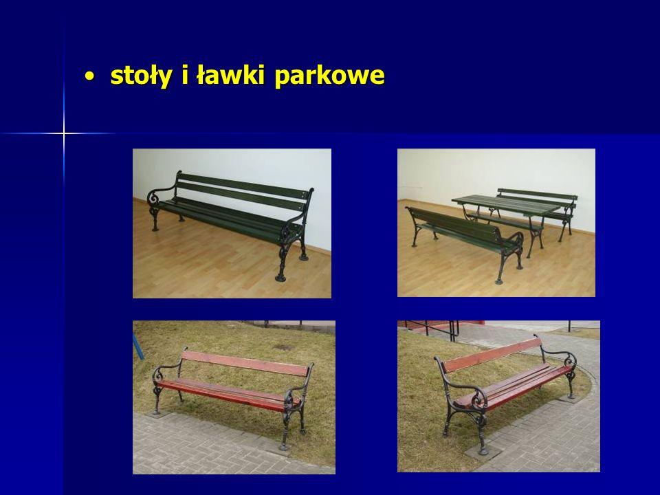 stoły i ławki parkowe